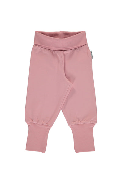 Dusty Pink - Rib - Pants - Maxomorra Fashion - Snugglefox