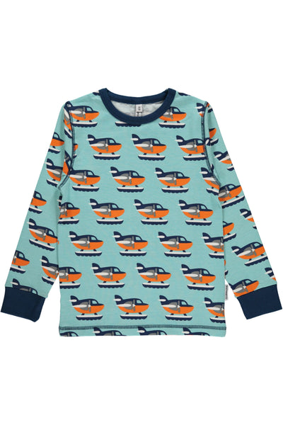 Sea Plane Top - Long Sleeves - Maxomorra Fashion - Snugglefox