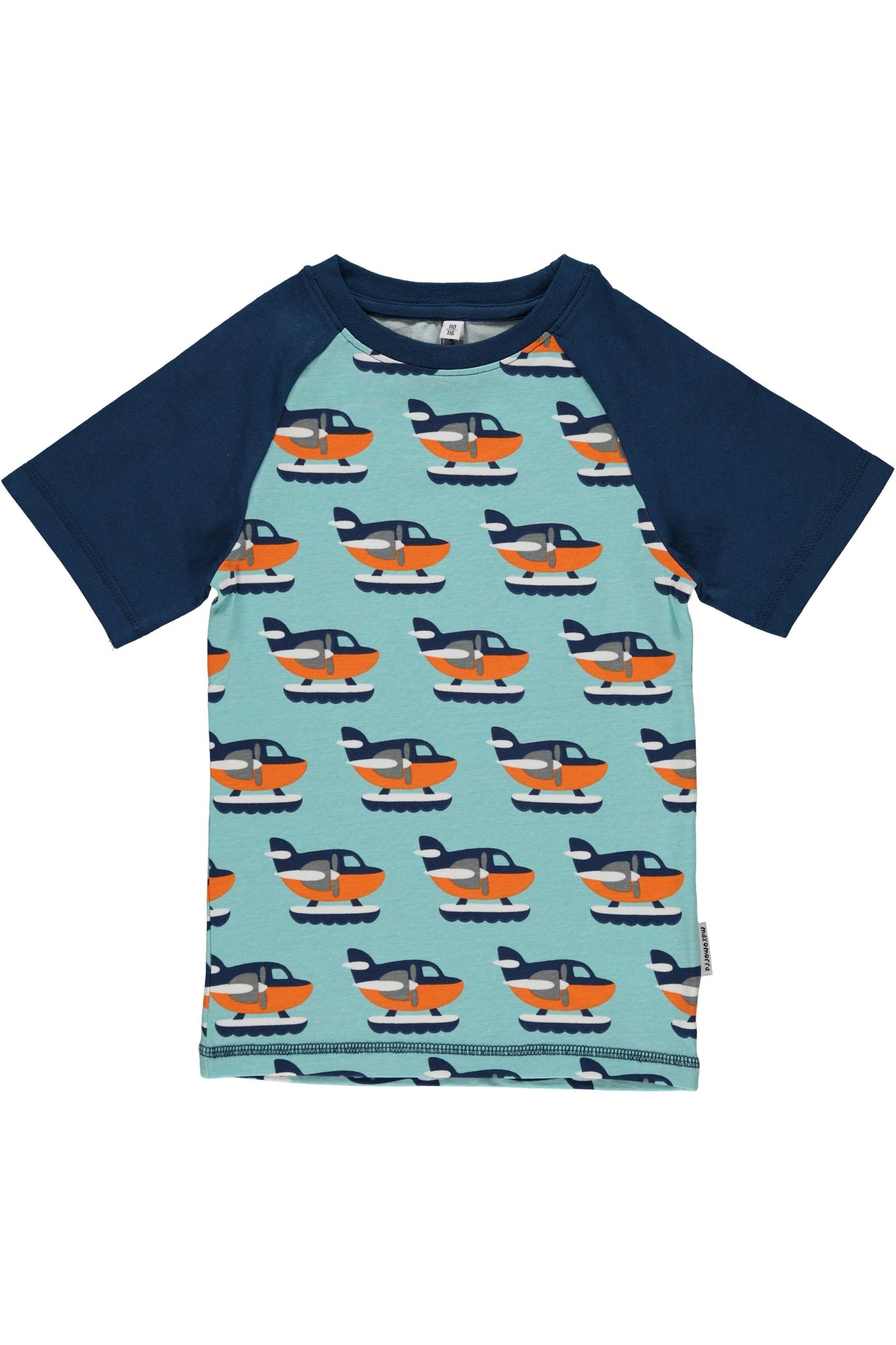 Sea Plane T-Shirt Slim Fit - Maxomorra  - Snugglefox