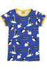 Mama DUNS Short Sleeve Puffins Top Blue - DUNS Adult Fashion - Snugglefox