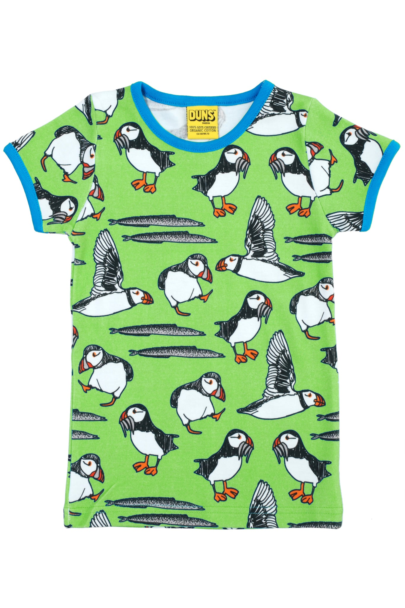 Short Sleeve Puffins Top Green - DUNS Fashion - Snugglefox