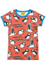 Short Sleeve Puffins Top Red - DUNS