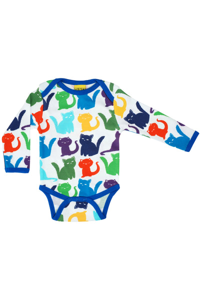 Long Sleeve Body Cats Multicolour White - DUNS Fashion - Snugglefox