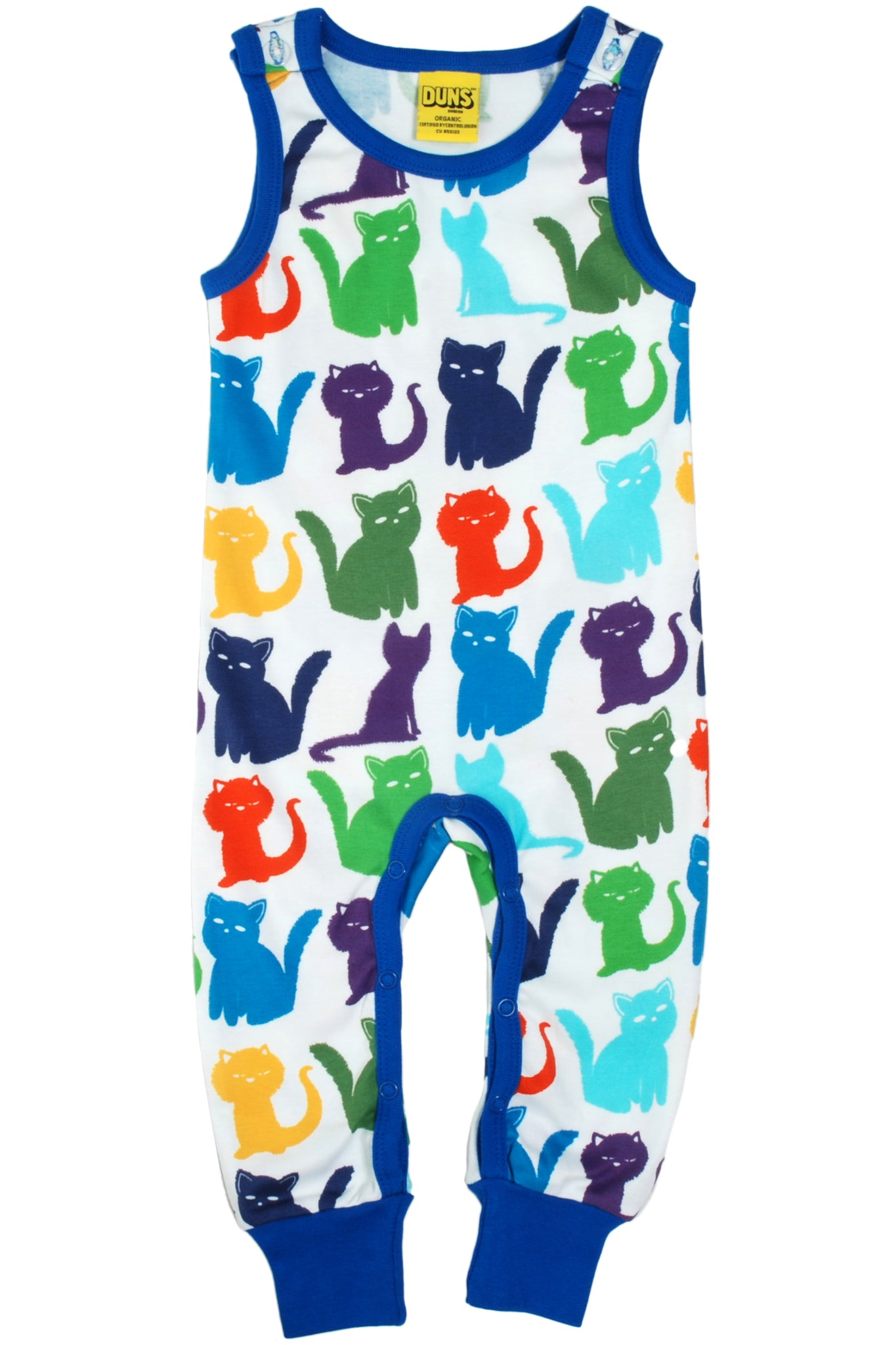 Dungaree Cats Multicolour White - DUNS Fashion - Snugglefox