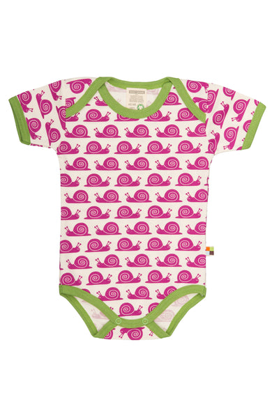 Snail Fuchsia Short Sleeve Body - loud+proud Fashion - Snugglefox