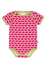 Whale Rose Red Short Sleeve Body  - loud+proud Fashion - Snugglefox