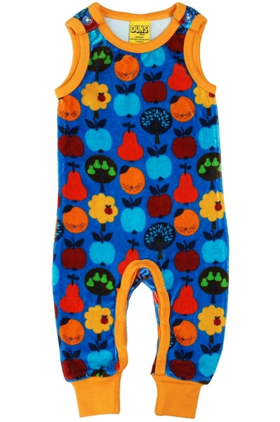 Dungaree Fruits Velour Blue - DUNS Fashion - Snugglefox