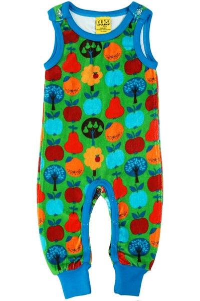 Dungaree Fruits Velour Green - DUNS Fashion - Snugglefox