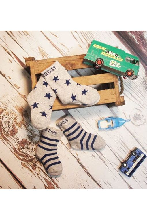 Marl Grey & Navy Socks - Blade & Rose Fashion - Snugglefox