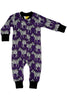 Zip Suit - Zebra - Purple - DUNS Fashion - Snugglefox
