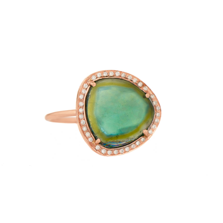 Bague or rose One of kind Tourmaline - Céline D'Aoust - Bagues pour femme - Mad Lords