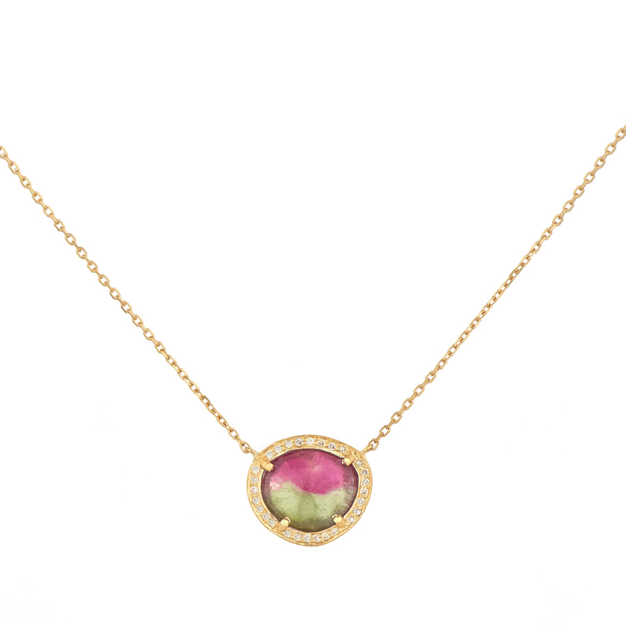 Pendentif Or rose One of Kind Stella Tourmaline