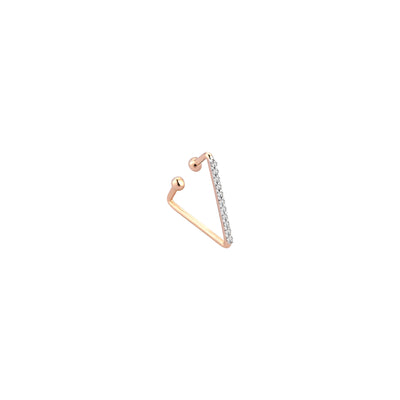 Boucle d'oreille Triangle Cuff Diamants