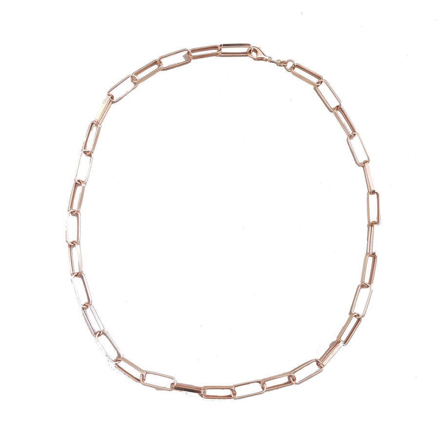 Collier grosse chaine oval