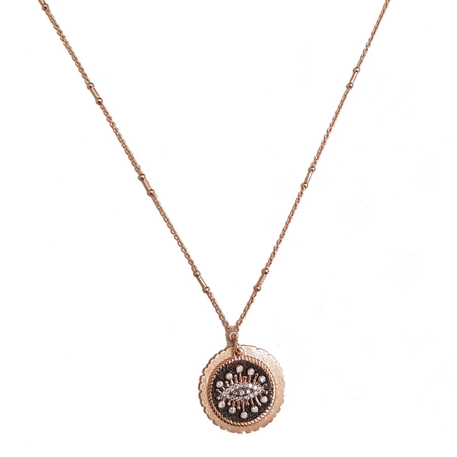 Collier oeil diamant