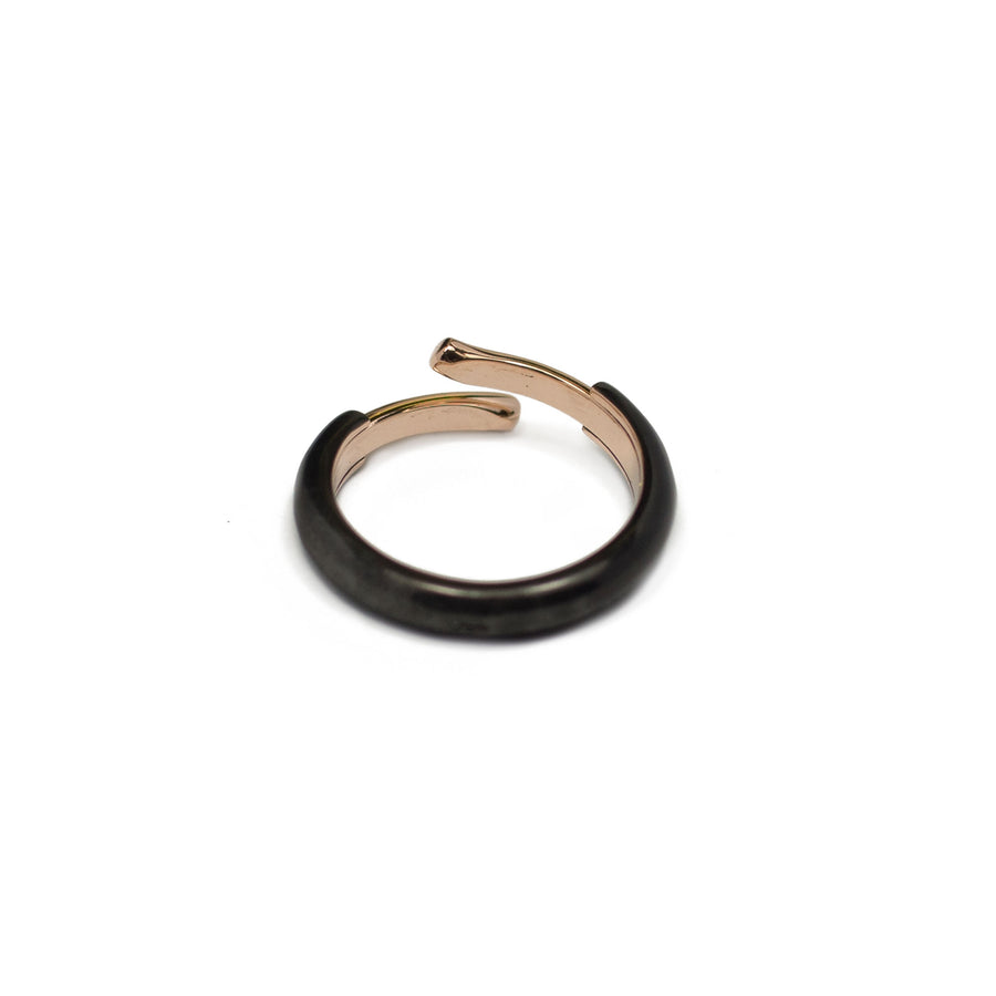 Bague 404 Black & Pink Gold pm