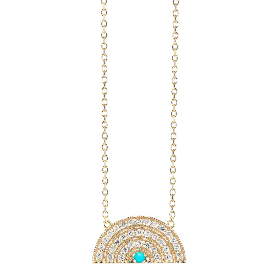 Collier arc en ciel 3 rangs diamants turquoise - Andrea Fohrman - Colliers pour femme - Mad Lords