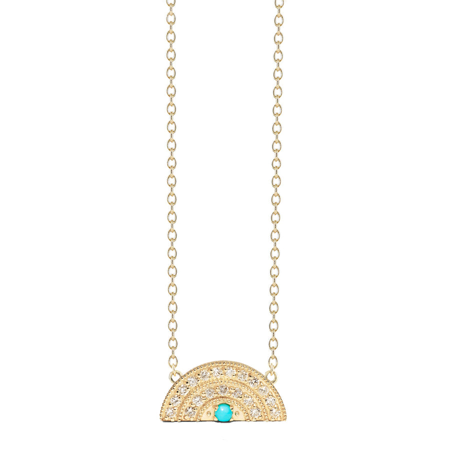 Collier arc en ciel 2 rangs diamants