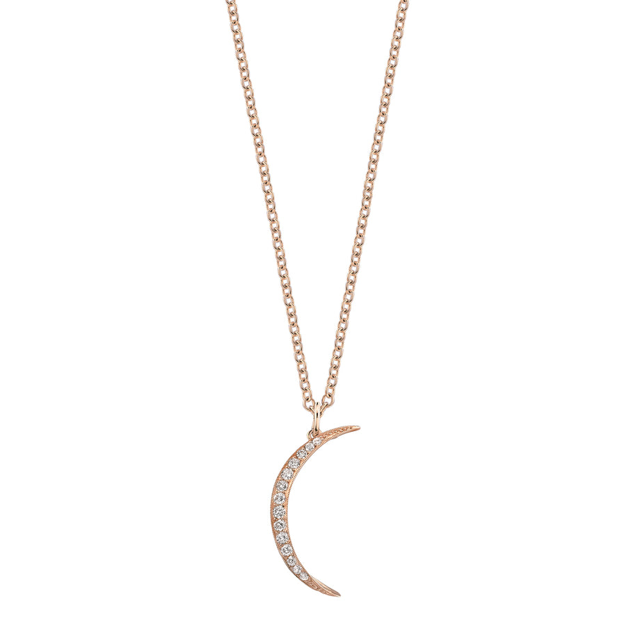 Collier croissant de lune diamants
