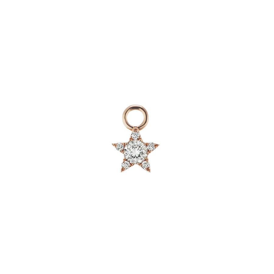 4.5mm Charm Etoile Diamants Or Rose