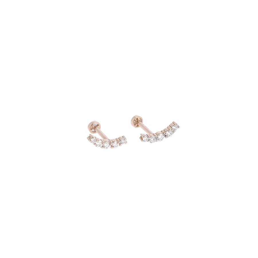 Boucle d'oreille Or Rose Arc