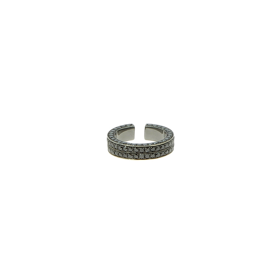 Bague Brute Diamants Noirs