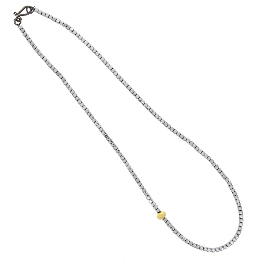 Collier Hematite Perle d'Or