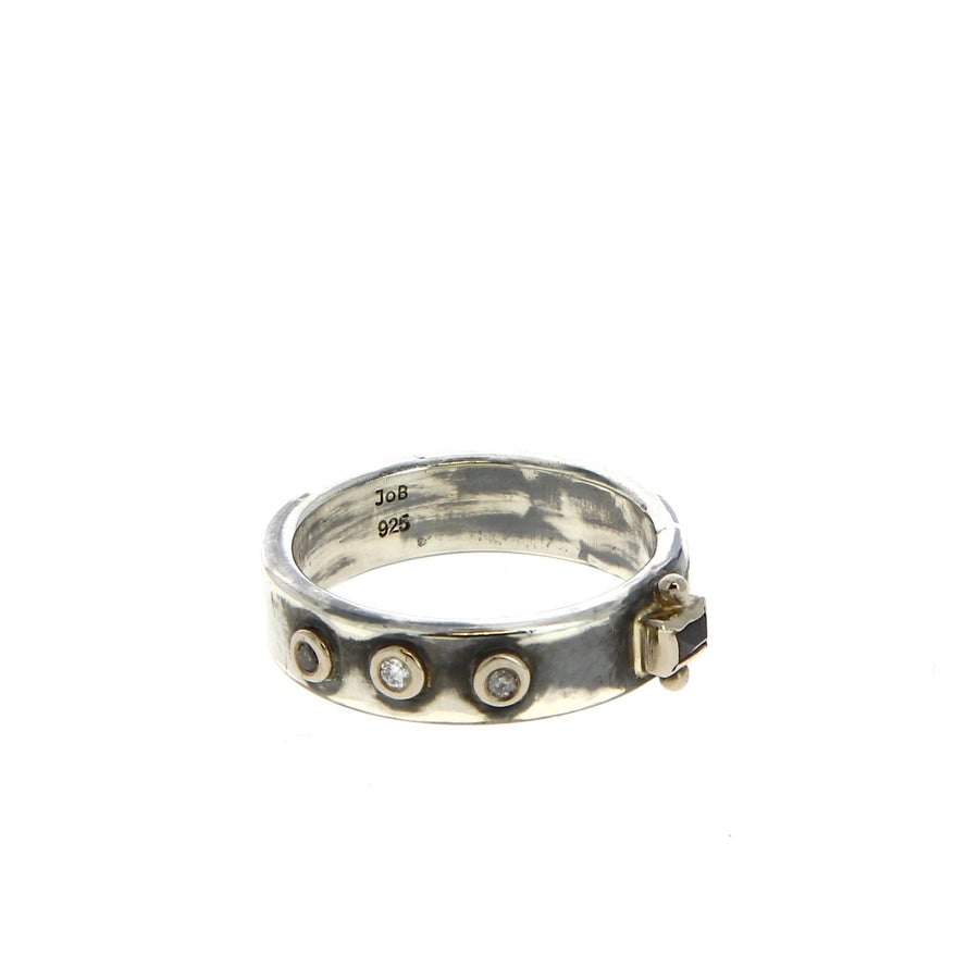 Bague Black One Diamond - Bergsoe - Bagues pour homme - Mad Lords