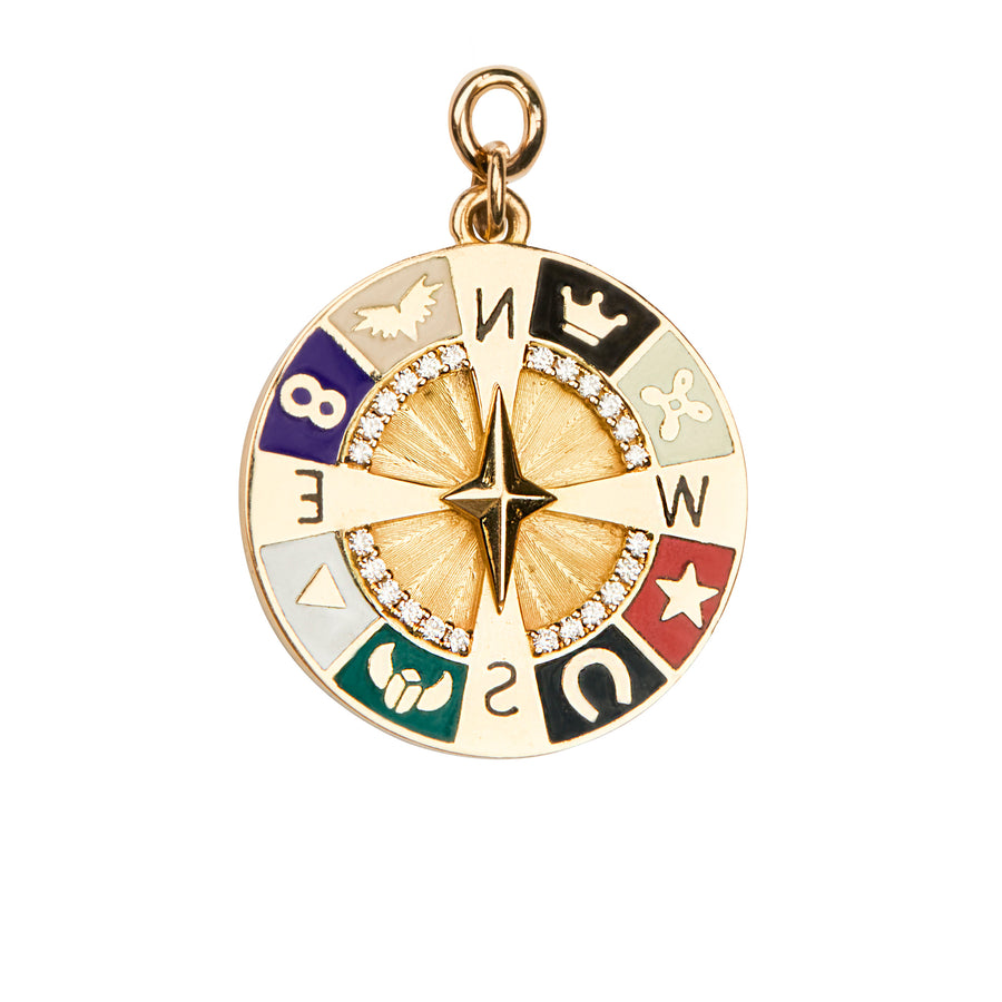 Pendentif compass wheel - Foundrae - Colliers pour femme - Mad Lords