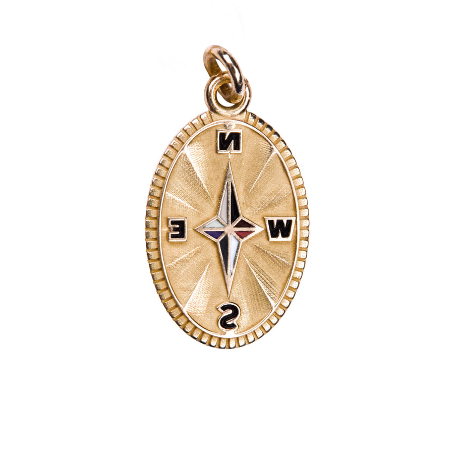 Pendentif oval compass