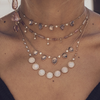 Collier Teardrop Diamond Moonstone