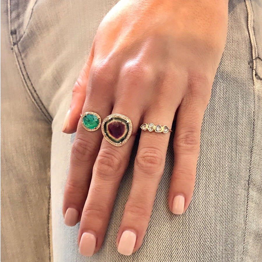 Bague Or rose One of kind Stella Tourmaline - Céline D'Aoust - Bagues pour femme - Mad Lords