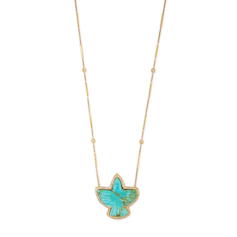Collier aigle turquoise