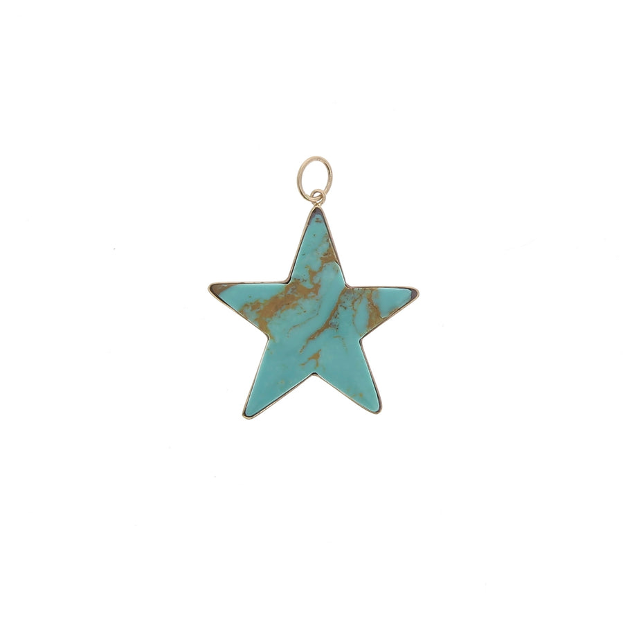 Charm Large Turquoise Star