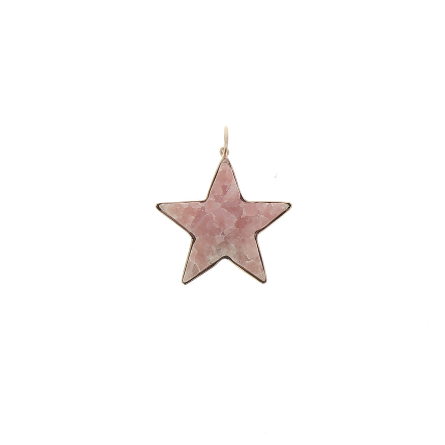 Charm Large Pink Star