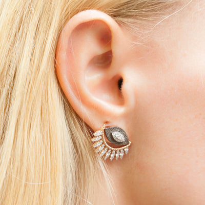 Boucle d'oreille Maxi Diamond Eye