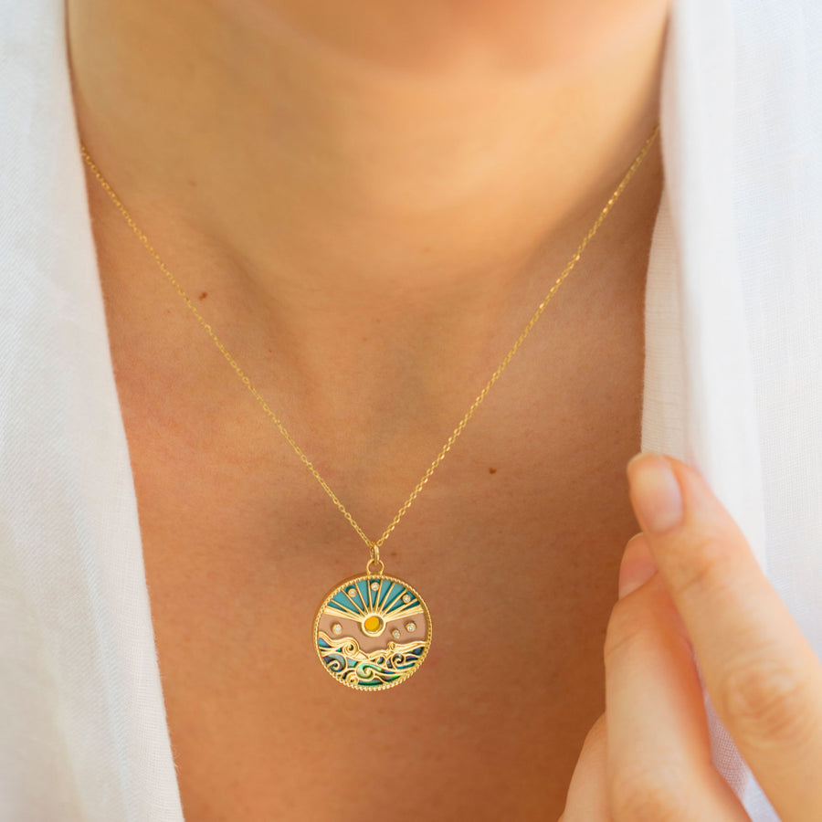 Collier Pendentif Love Summer