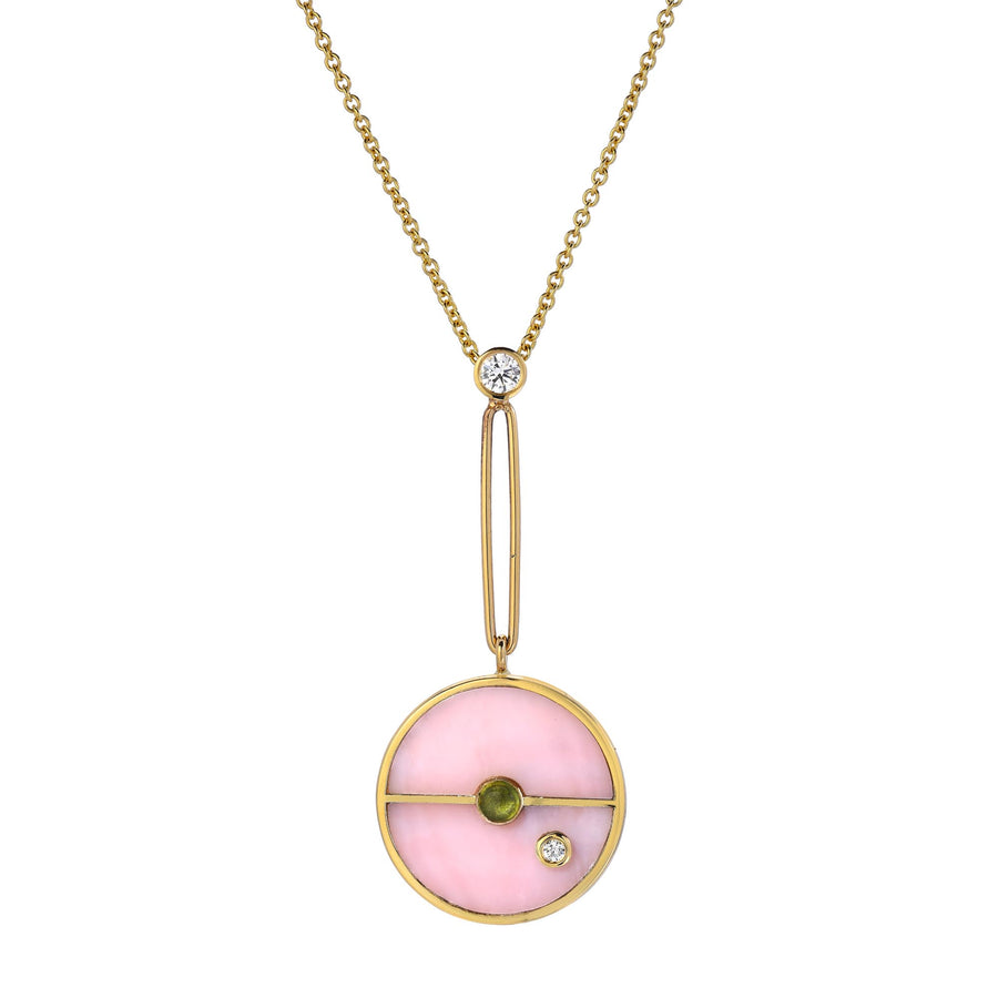 Collier Opale rose Compass