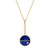 Collier Lapis Diamant Compass