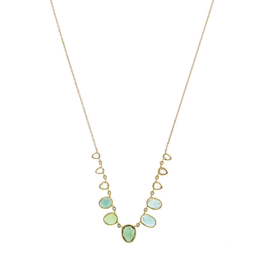 Collier Multi Tourmaline Diamants - Céline D'Aoust - Colliers pour femme - Mad Lords