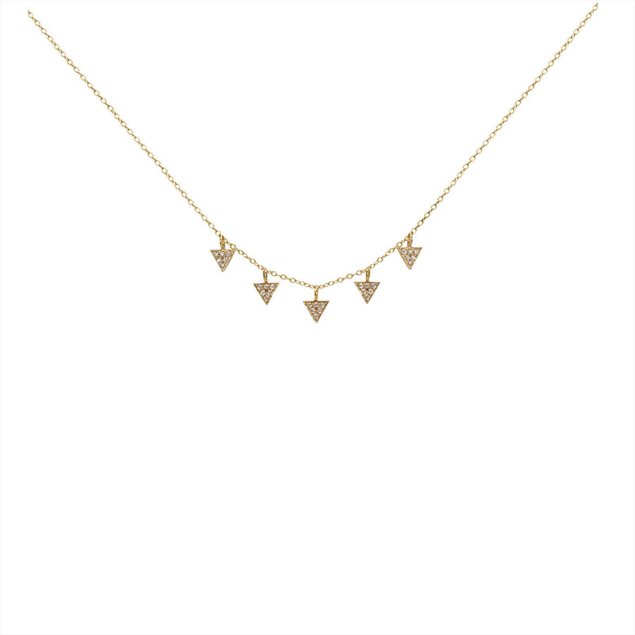 Collier 5 triangles - and...Paris - Colliers pour femme - Mad Lords
