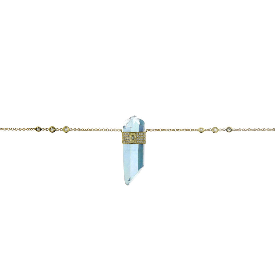 Collier Aqua Aura Cristal 6 Diamants