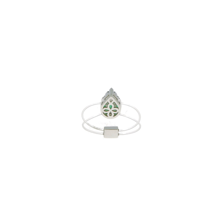 Bague Floating Pear Emerald