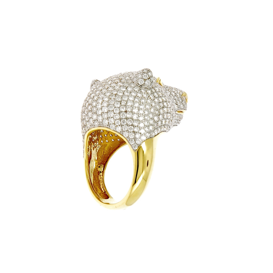 Bague white bear diamants blancs et noirs