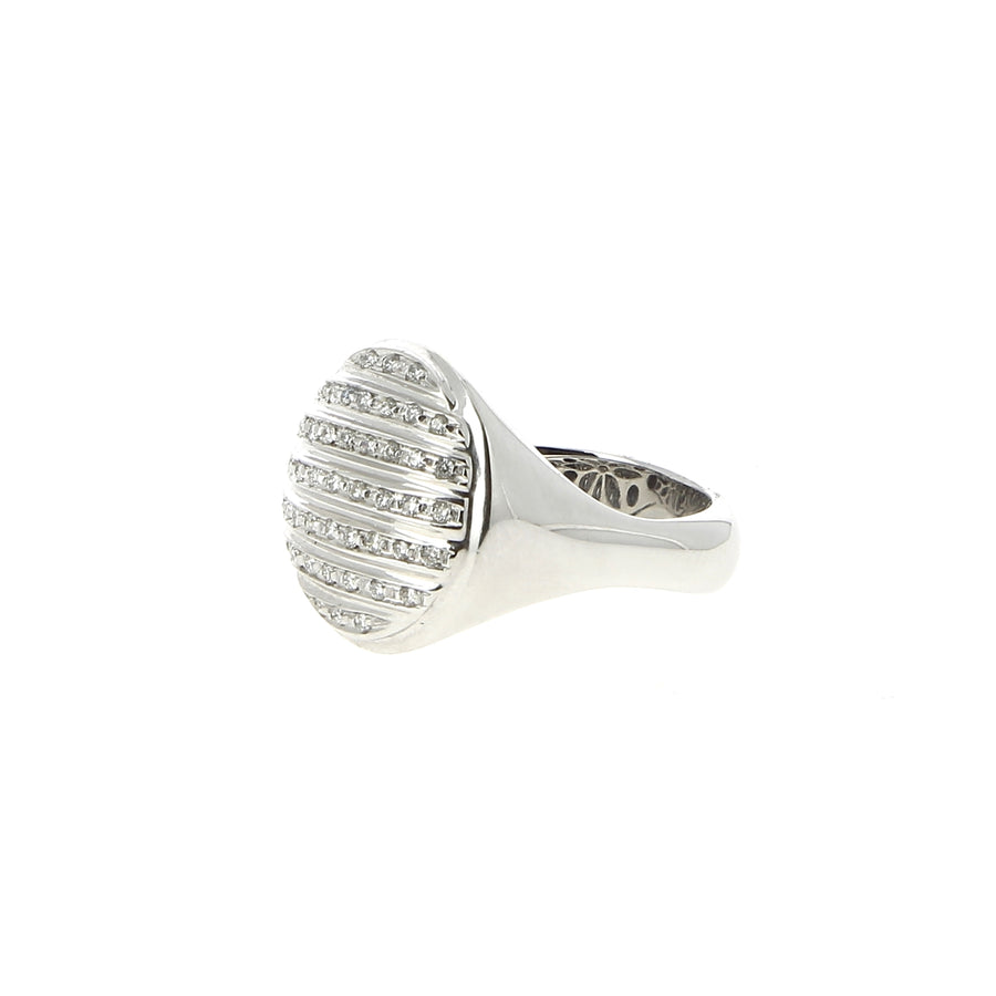 Bague Or gris Pavé Diamants