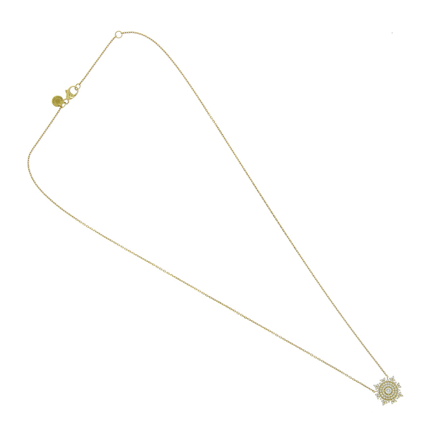 Collier en or jaune avec diamants