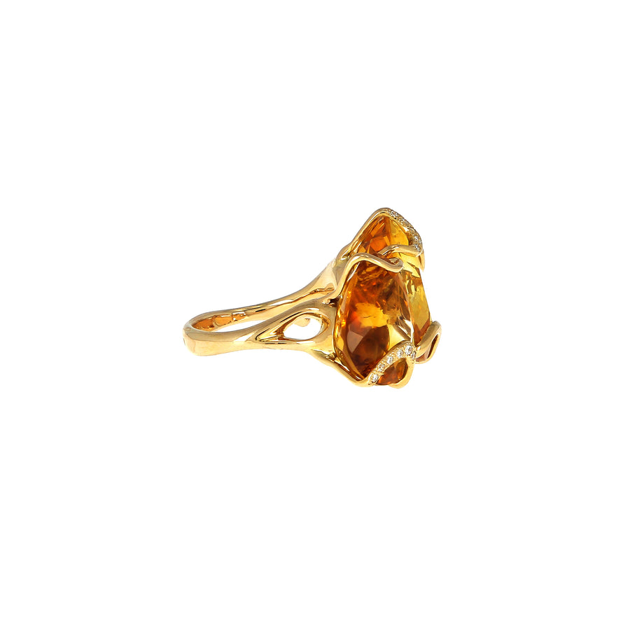 Bague Bocciolo Citrine Quartz