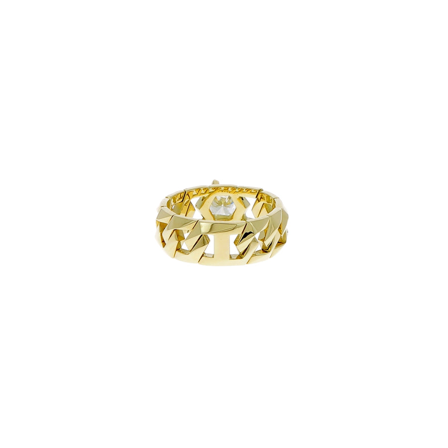 Bague Bond or jaune diamants blancs