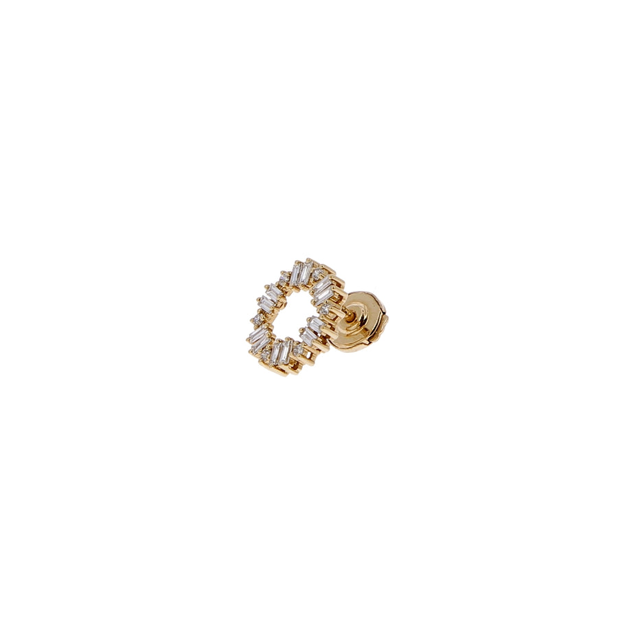 Boucle d'oreille Ava Diamants Blancs