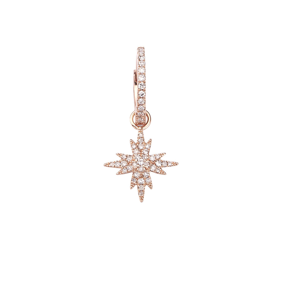 Boucle d'oreille Delight and Star Or Rose
